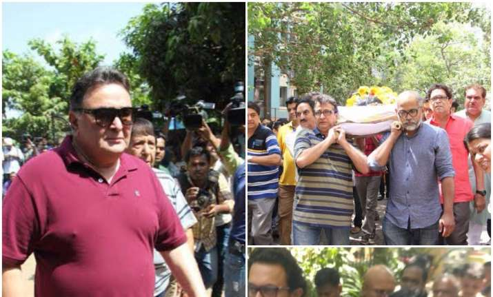 Reema Lagoo Funeral Aamir Khan Rishi Kapoor Kajol Attend In Pics
