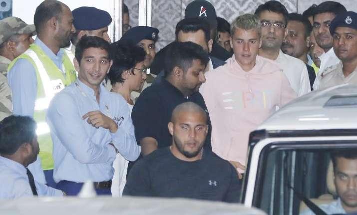 Justin Bieber arrives in India, Salman Khan's bodyguard