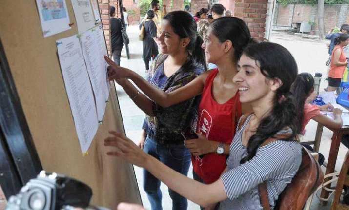Delhi University has released first cut-off for