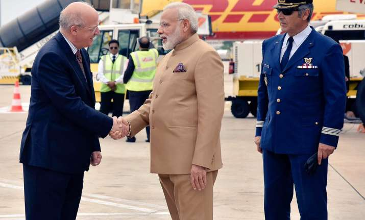 PM Modi arrives in Portugal on first leg of three-nation