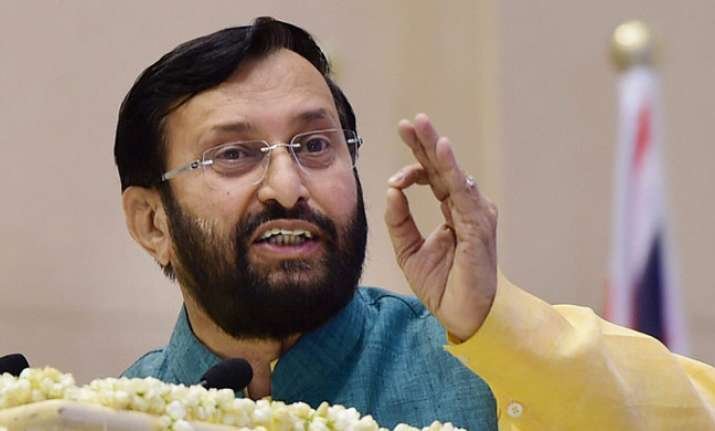 Govt not imposing any language on anyone, Javadekar said in