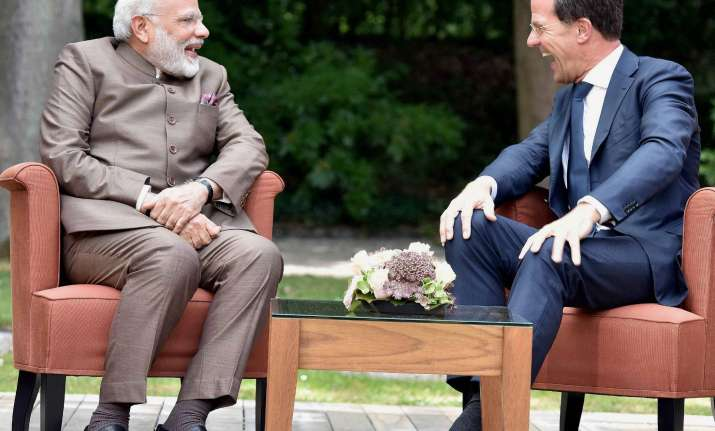 PM Modi meeting with Netherlands PM Mark Rutte at The Hague