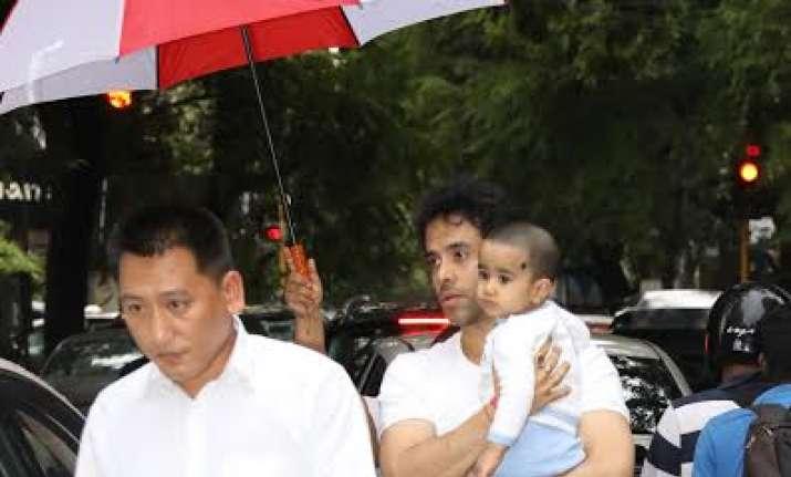 Tusshar Kapoor and son Laksshya