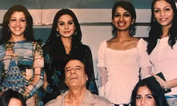 Katrina Kaif with Gaddafi