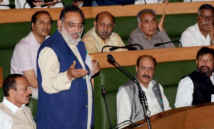 JK FM Haseeb Drabu addresses Assembly to pass the SGST Act