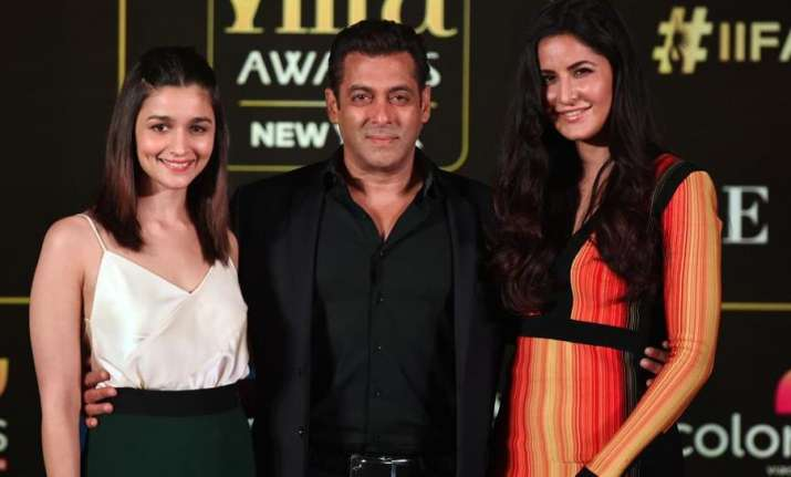 Bollywood Stars Salman Khan Katrina Kaif Alia Bhatt