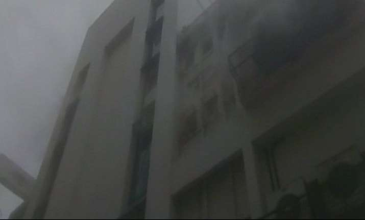 Fire engulfed a multi-storied office building in Kolkata's