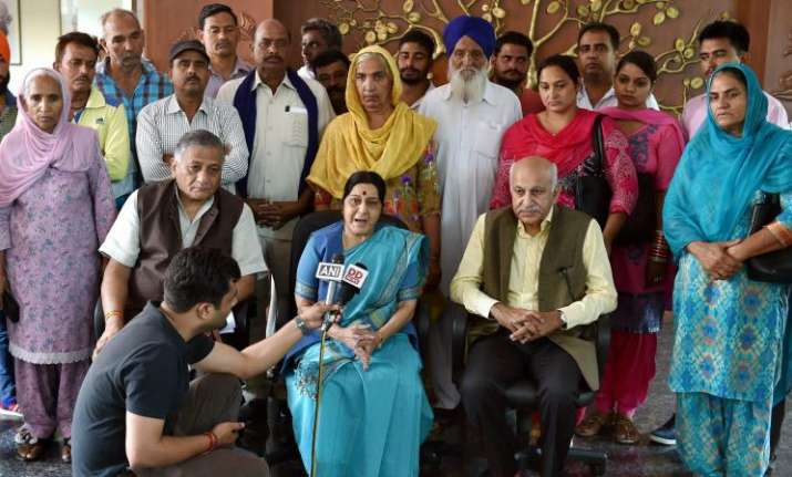 Iraq says search on for 39 abducted Indians, Swaraj to