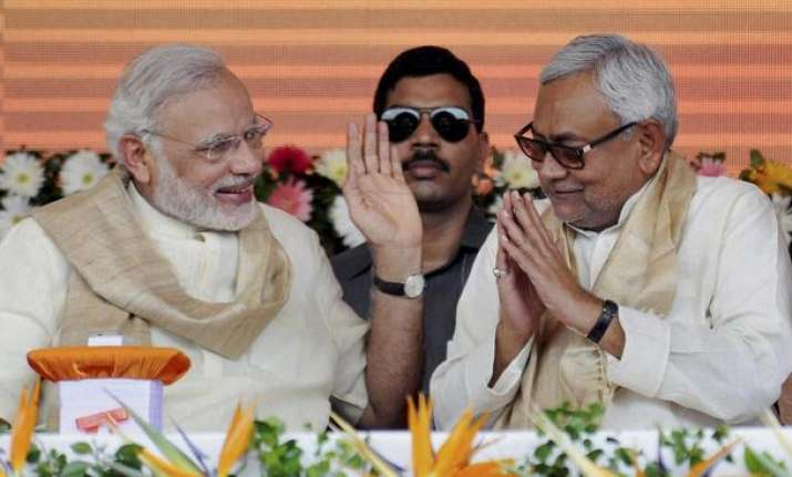 File photo of Bihar CM Nitish Kumar with Prime Minister
