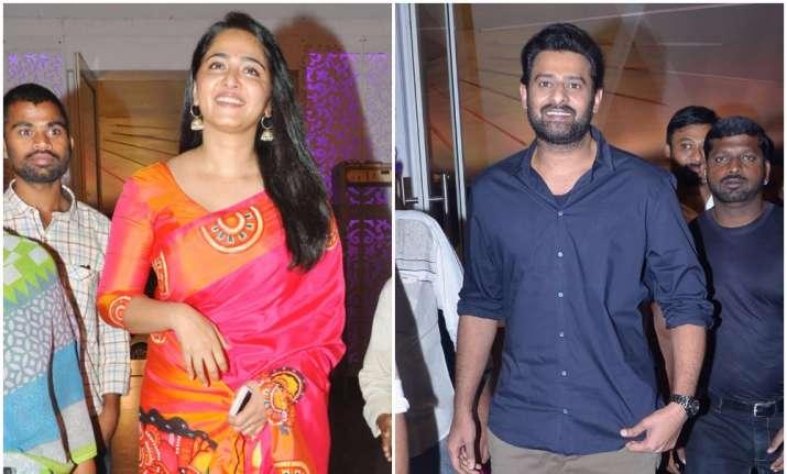 Baahubali stars Prabhas Anushka Shetty attend a wedding