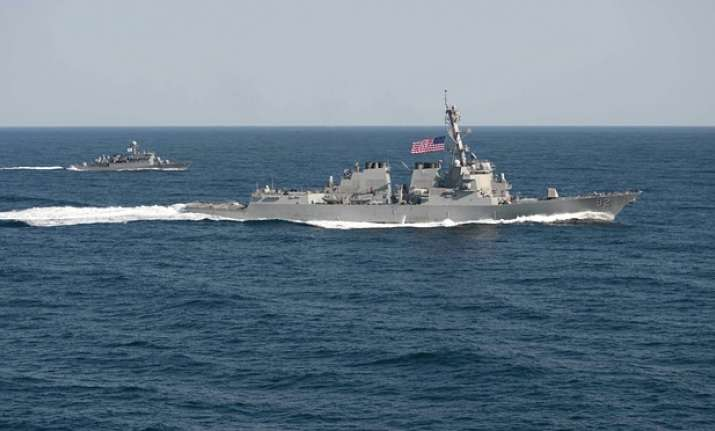US warship near South China Sea island 'serious
