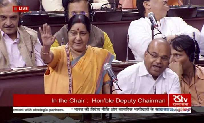 Opposition to move privilege motions against Sushma Swaraj