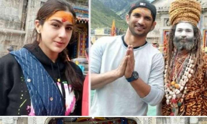 Sara and Sushant Singh Rajput seek blessings at Kedarnath