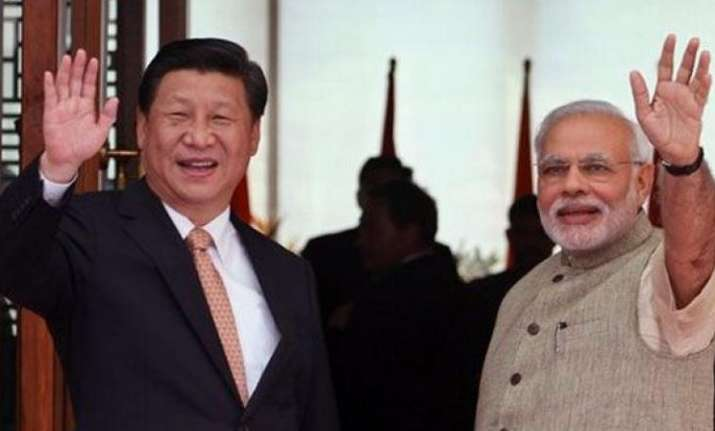Chinese president Xi Jinping with Prime Minister Narendra
