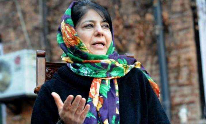 Mehbooba Mufti urges Kashmiri youth to shun guns and stones
