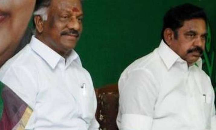 Panneerselvam and Palaniswami
