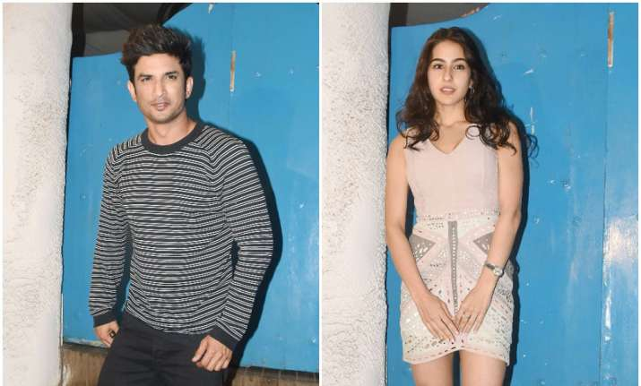 Sara Ali Khan clicked with her Kedarnath co-star Sushant
