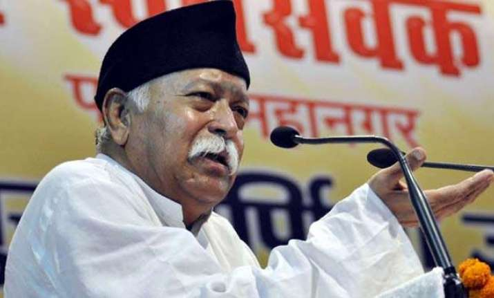 RSS chief Mohan Bhagwat unfurls national flag at Kerala