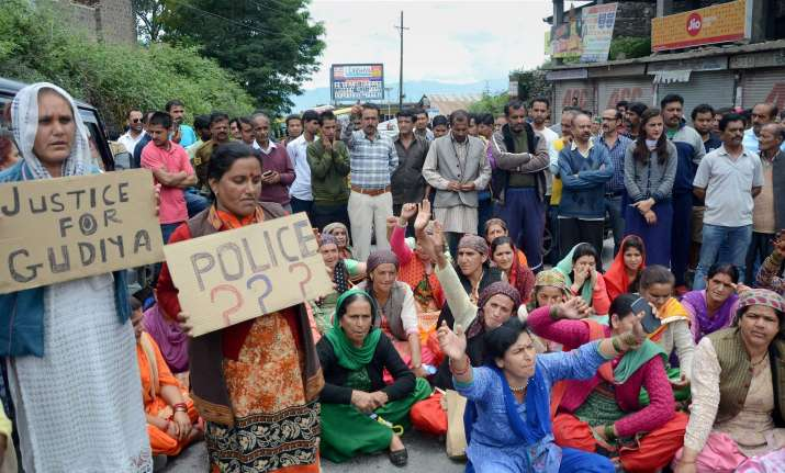 A protest demanding justice for minor girl who was raped