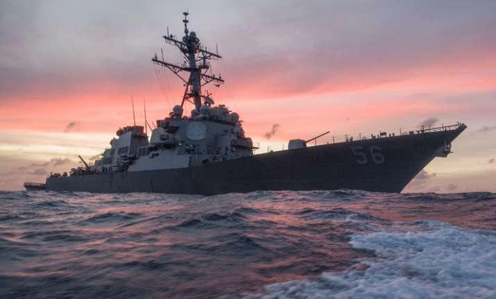 US Navy warship John S. McCain collides with tanker near
