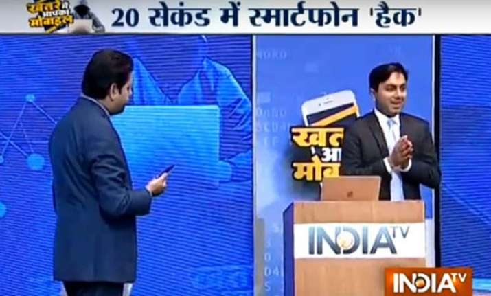 Saket Modi at India TV's special show on mobile hacking