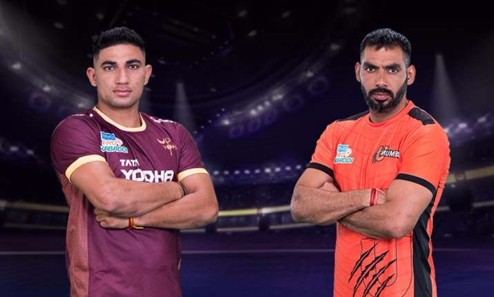 Highlights pro kabaddi league 2017 match 34 u mumba beat up image source website pro kabaddi pro kabaddi league 2017 up yoddha vs u mumba thecheapjerseys