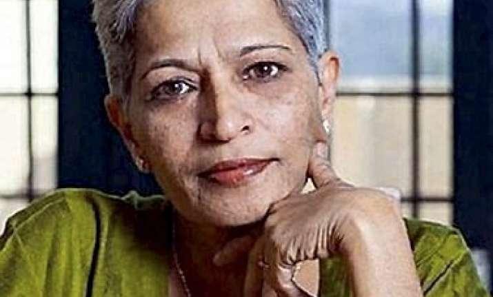 Gauri Lankesh was shot dead at her Bengaluru residence on