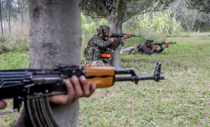 Militant surrenders during encounter in Shopian