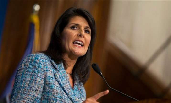 US Ambassador Nikki Haley told an emergency meeting of the