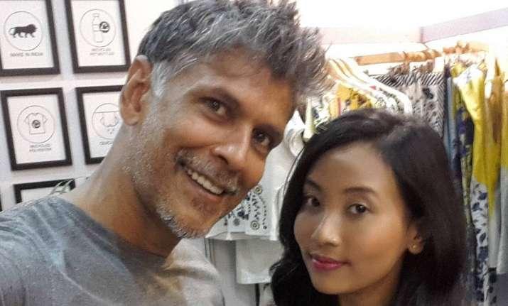 Milind Soman with girlfriend ankita