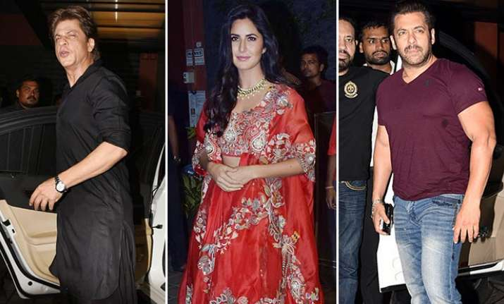 Salman Khan SRK Katrina in Arpita Khan Diwali bash