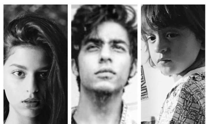 Shah Rukh Khan shares picture of his kids Suhana, Aryan and