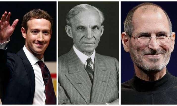 Mark Zuckerberg, Henry Ford, Steve Jobs