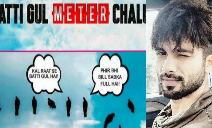 Shahid Kapoor to be next seen in Batti Gul Meter Chalu