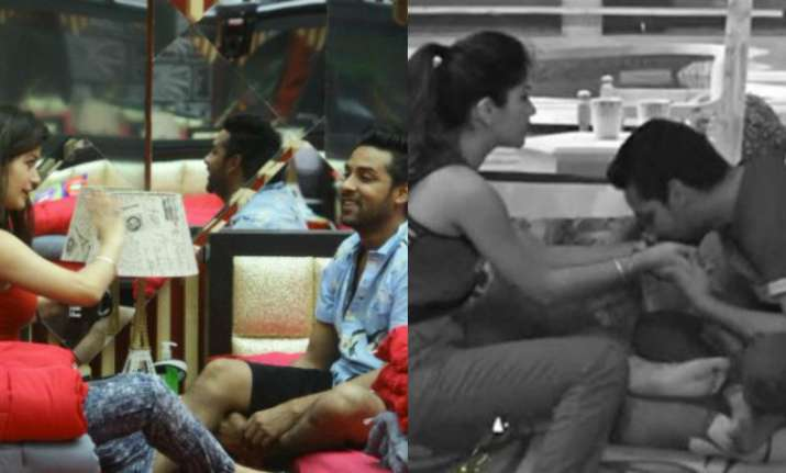 Bandgi Kalra and Puneesh Sharma in Bigg Boss 11
