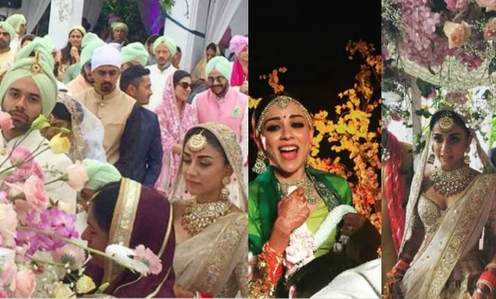 Amrita Puri's destination wedding pictures