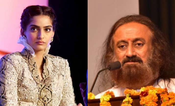 Sonam Kapoor and Sri Sri Ravi Shankar
