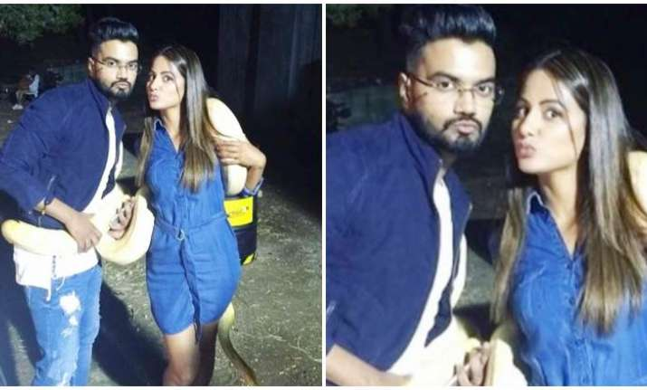 Hina Khan's bf Rocky Jaiswal on Bigg Boss 11