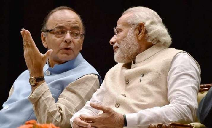 File pic of Finance Minister Arun Jaitley with Prime