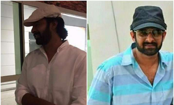 Photos: Baahubali actor Prabhas hiding new hairstyle for ...