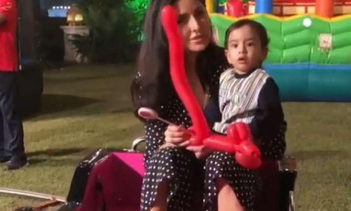 Katrina Kaif with Ahil at Adira's birthday party