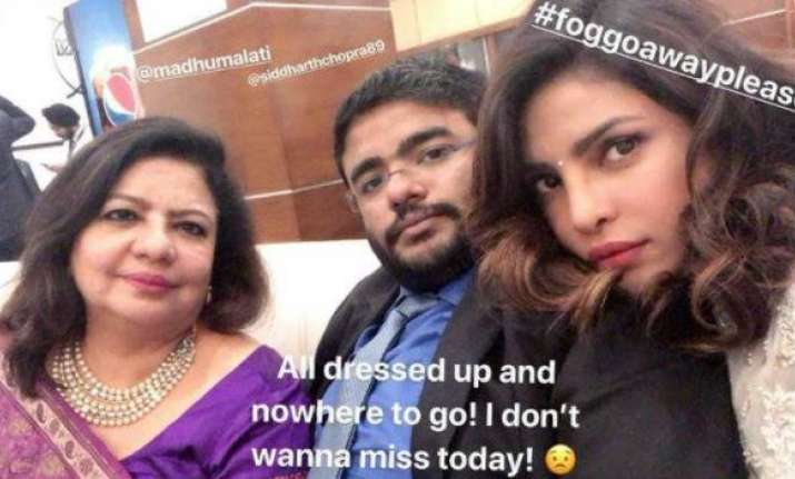 Priyanka Chopra missed the ceremony due to smog