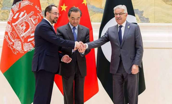 Foreign Ministers of Pakistan, Afghanistan and China at the