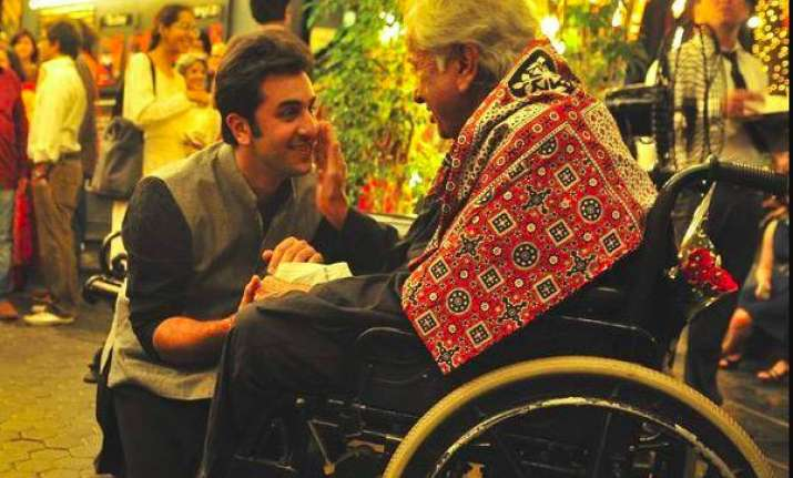 Throwback picture of Shashi Kapoor and Rambir Kapoor