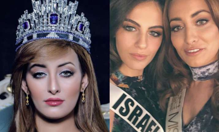 Miss Iraq Sarah Idan with Miss Israel Adar Gandelsman