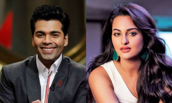 Karan Johar and Sonakshi Sinha