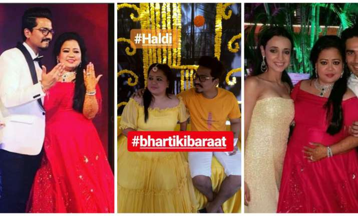 Bharti Singh and Haarsh Limbachiyaa's engagement and haldi