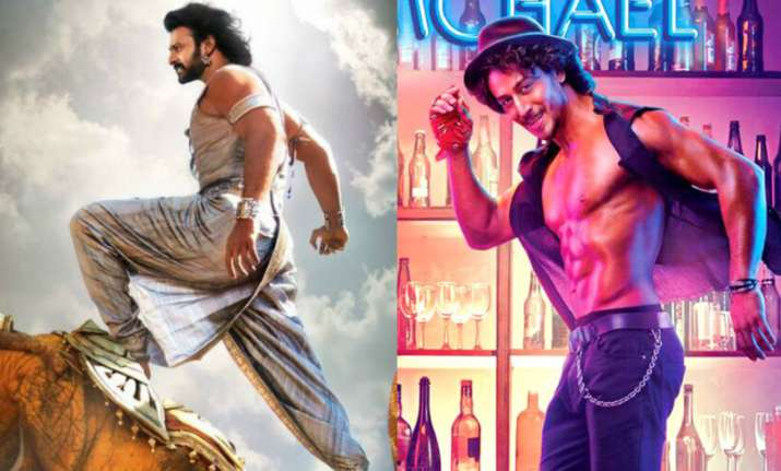 Posters of Bahubali 2 and Munna Michael