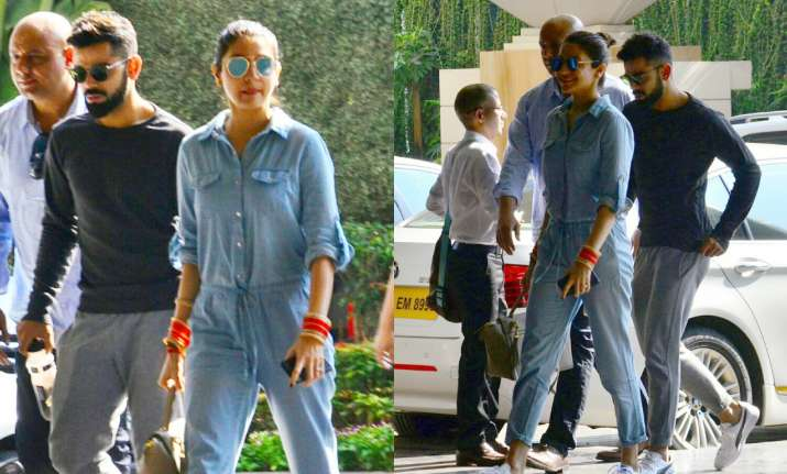 Virat Kohli, Anushka Sharma papped outside their hotel