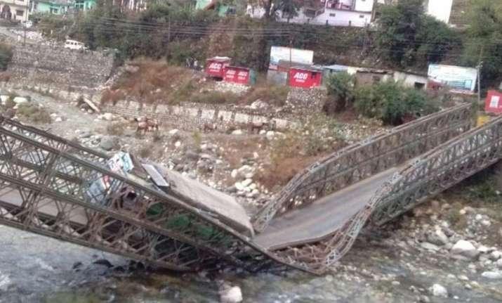 The makeshift Gangotri bridge collapsed around 6 am when